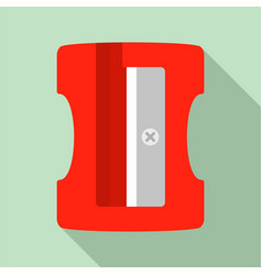 sharpener icon flat style vector image