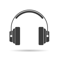 silhouette studio headphones vector image