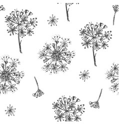 Simple seamless pattern with realistic botanical vector