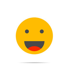 smile face icon vector image