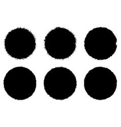 stamp set bold vector image