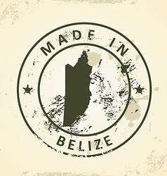 Stamp with map of Belize vector image