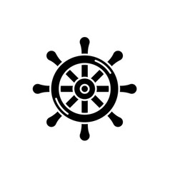 steering wheel black icon sign on isolated vector image