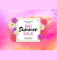 summer sale banner background layout vector image