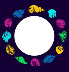 Template circle sea vector