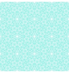 Turquoise lace pattern vector