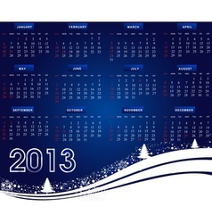 US Calendar for the year 2013 vector image