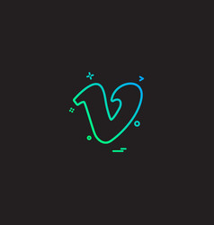 Vimeo icon design vector