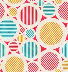 Vintage colored circle seamless texture vector
