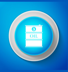 white barrel oil icon isolated on blue background vector image