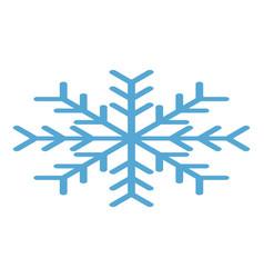 winter snowflake icon isometric style vector image
