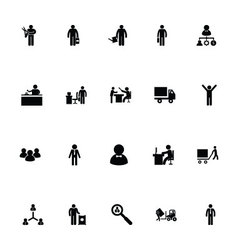 Working Human Icons 4 vector