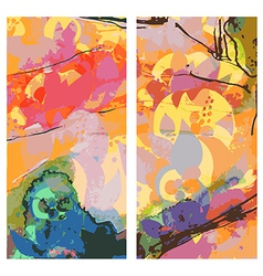 Abstract east banners vertical watercolor style vector image vector image