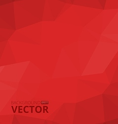 Abstract polygonal red background vector image