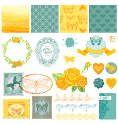 Design Elements - Vintage Ombre Butterflies vector image vector image