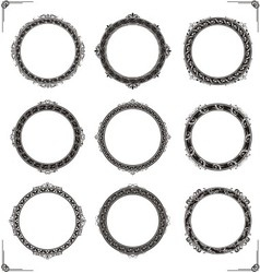 Classic Circular Frame vector image