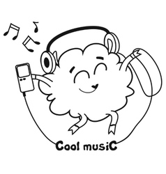 Cool music vector image