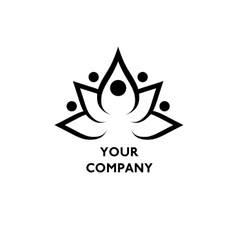 Lotus symbol with text vector image vector image