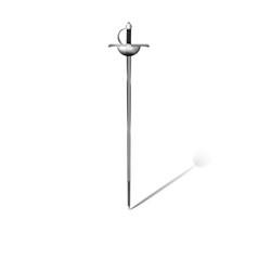 rapier sword on white background vector image