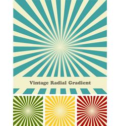 retro rays comic background raster gradient vector image