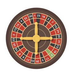 roulette with red and black cells the most vector image vector image