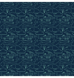 seamless military pattern 13 vector image