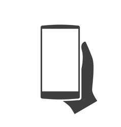 template smartphone in hand modern icon vector image