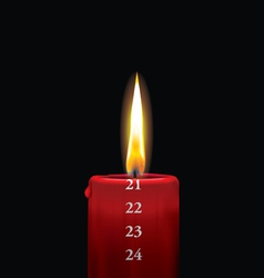 Advent candle red 21 vector image vector image