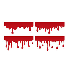 blood drips vector image