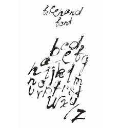 Freehand abc font hand written with ink and brush vector image vector image