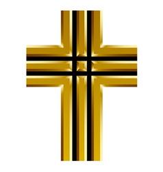 golden christian cross vector image vector image