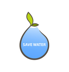 logo concept for save water vector image
