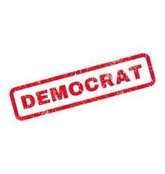 Democrat Text Rubber Stamp vector image