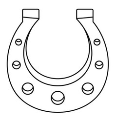 horseshoe icon outline style vector image vector image