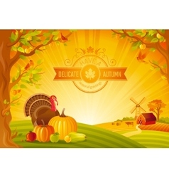 Thanksgiving day of beautiful vector image vector image