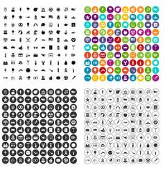 100 summer holidays icons set variant vector image
