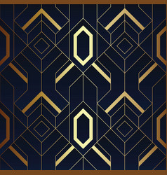 Abstract art luxury dark seamless blue and golden vector