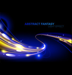 Abstract light speed in vector