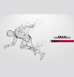 Abstract silhouette a running athlete man vector
