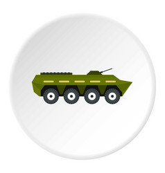 armoured troop carrier icon circle vector image