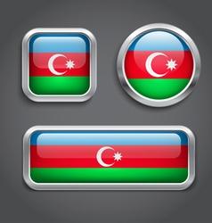 Azerbaijan flag buttons vector image
