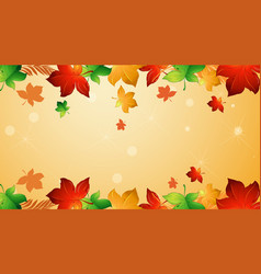 Background design template with falling leaves vector