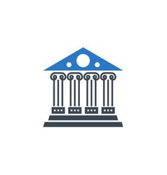 bank related glyph icon vector image