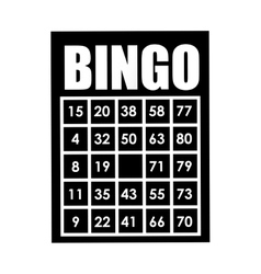 bingo card isolated icon design vector image