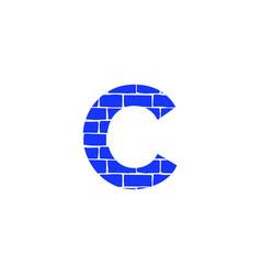 Brick logo letter c vector