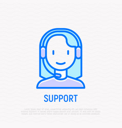 call center operator young woman in headset vector image