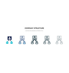 company structure icon in different style two vector image