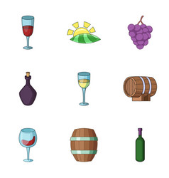 Cordial icons set cartoon style vector