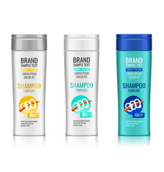 Cosmetic packaging realistic plastic shampoo vector