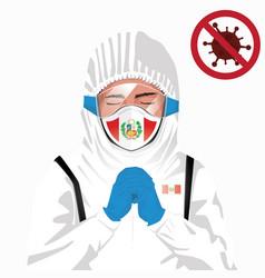 Covid-19 concept peruvian medical pray for peru vector